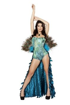 ROMA COSTUME 2 PIECE PRETTY PEACOCK AS SHOWN, TURQUOISE, SMALL/MEDIUM   - Click image twice for more info - See a larger selection womens halloween costume at http://costumeriver.com/product-category/womens-halloween-costumes/ -  holiday costume , event costume , halloween costume, cosplay costume, classic costume, scary costume, super heroes costume, classic costume, clothing
