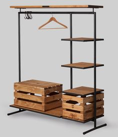 Older homes often lack closet space (as do some other small apartments, condos and houses), which can leave the occupants searching for ways to store their clothes. Freestanding wardrobes may be too bulky, but a clothes rack might work. Some offices and other workspaces might find a clothes rack handy,