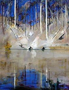 Arthur Boyd Shoalhaven Impressionist Landscape, Abstract Landscape, Landscape Paintings, Oil Paintings, Painting Art, Australian Painting, Australian Artists, Epic Art, Amazing Art