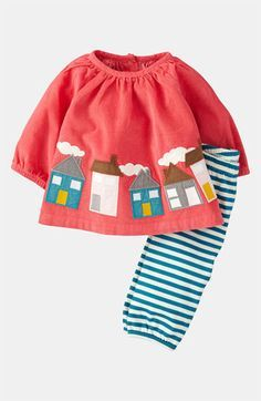 Mini Boden Appliqué Shirt & Leggings (Infant) available at #Nordstrom - $44