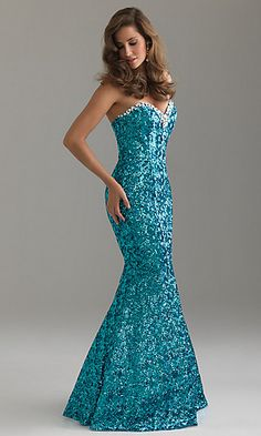 Night Moves Sequin Mermaid Evening Gown 6421 at PromGirl.com