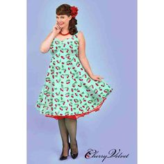 PRE-ORDER - Doris Dress (Mint Cherry Dots) $229.00 http://www.curvyclothing.com.au/index.php?route=product/product&path=95_151&product_id=10795&limit=100