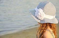 Detské čiapky - Romantický klobúk- pásiky - 5624197_