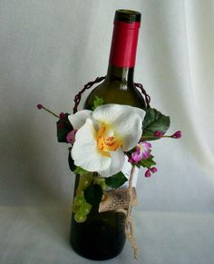 wine bottle centerpieces for wedding | wine bottle centerpieces wine bottle toppers amorebride original coral ...