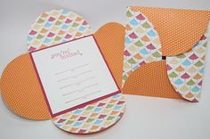 Easy DIY Petal Wedding Invitation Cards.  Could also be used as a gift card to put money or a voucher inside