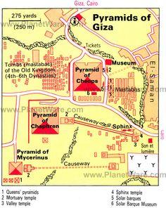 Location of Egypt Giza Pyramids