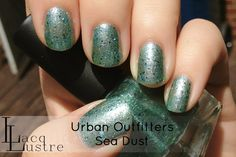 "Urban Outfitters Sea Dust (dupe of Mermaid's Dream by Deb Lip). For ""underwear"" I have one coat of China Glaze Aquadelic"