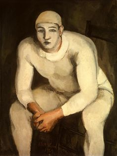 "The White Clown, Walt Kuhn, 1929, oil on canvas 40"" x 30"""