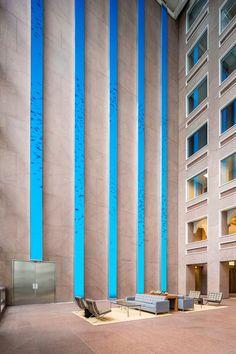 Eight-story digital installation added as part of ESI Design's renovation of Denver's Wells Fargo Center | Building Design + Construction