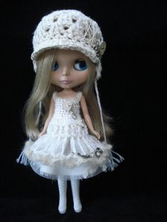 As Time Goes By No 1  Dress and hat set for Blythe doll by polly