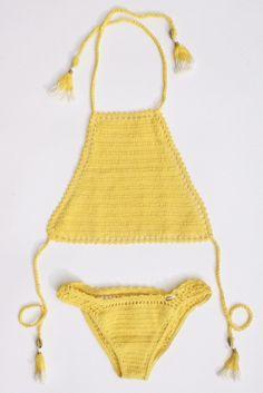 crochet halter bikini #shemademe