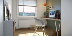 #ethjemfraskanska#petersborgkvartalet#kontor Home Office, Corner Desk, Windows, Breeze, Inspiration, Furniture, Rooms, 3d, Home Decor