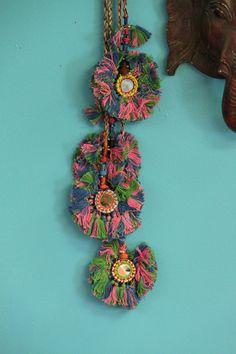 Camel Swag (Medium) / Pink, Green, Blue Mirrored Camel Pom Pom, Tassel, Decoration / Boho, Gypsy Fashion Design, Decorating Supplies