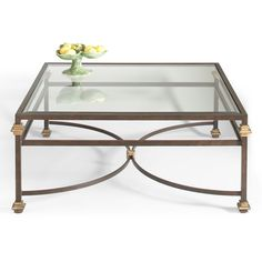 """French Directoire bronzed iron glass top square coffee table with stretcher and gold highlights. Dimensions: W x 43 """" D x H Table Furniture, Home Furniture, Walnut Doors, Cocktail Tables, Interior Lighting, Home Furnishings, Chelsea, Coffee Tables, Home Decor"""
