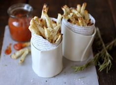 Parsley Root Fries with Roasted Tomato Ketchup by Sarah Britton
