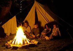 Group around a campfire