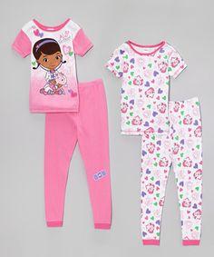 Love this Doc McStuffins Pink Doc McStuffins Pajama Set - Girls by Doc McStuffins on #zulily! #zulilyfinds