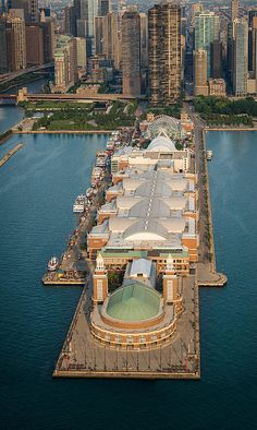 Navy Pier Aloft by Steve Gadomski is part of Chicago city - Aerial photograph of Chicago's Navy Pier at sunrise Navy Pier Chicago, Chicago Usa, Chicago River, Chicago City, Chicago Skyline, Chicago Illinois, Chicago Chicago, Chicago Photos, Lake Michigan
