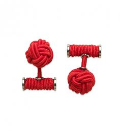 NEW Red Elastic Knot Cufflinks by Hook + Albert  | $30 | The HOOK & ALBERT knot cufflinks are made with a unique and signature combination of elastic and stainless steel. Just enough cool factor to walk the urban street but still classic enough for that formal southern event. | GOTSTYLE.CA