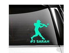 Personalized Softball Batter Car Decal- Vinyl Decal * Want additional info? Click on the image. (Amazon affiliate link)