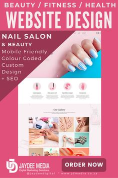 Nail Salon Website Design + SEO Package Beauty Web, Mobile Friendly Website, Seo Software, Seo Packages, Team Page, Salon Business, Responsive Web, Business Website, Web Development