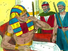 Free Bible illustrations at Free Bible images of Moses and the first seven plagues God sent on Egypt. Moses Plagues, Plagues Of Egypt, 10 Plagues, Free Bible Images, Bible Photos, Bible Pictures, Bible School Crafts, Bible Crafts, Exodus Bible