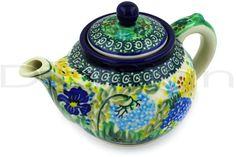 Polish Pottery Teapot. I love the colors!
