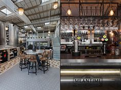 Crafted design by Studio 48 London for Meantime Brewing Company's new Tasting Rooms and Brewery Shop.