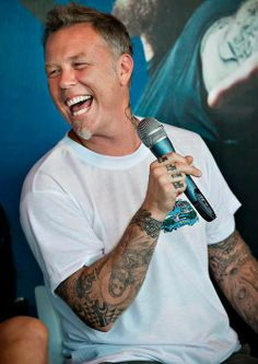 James Hetfield - there's that brilliant laugh again
