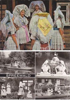 8 Vintage Costume Postcards Spreewald Germany by P8iosities