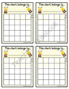 Bee Reward Charts #2 from Johnson Creations on TeachersNotebook.com -  (3 pages)  - Use these awesome reward charts to motivate your students. Use them for good behavior, helping others, homework completion, doing chores, practicing piano, brushing teeth - whatever you can think of!  In school, the charts can be taped on or inside studen