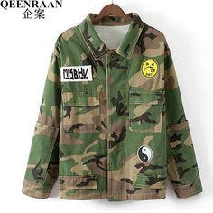 >> Click to Buy << Womens Camouflage Coat Fashion Street Female Long Sleeve Flight Jacket Casaco Feminino Bomber Jackets 2017 New Spring Autumn #Affiliate