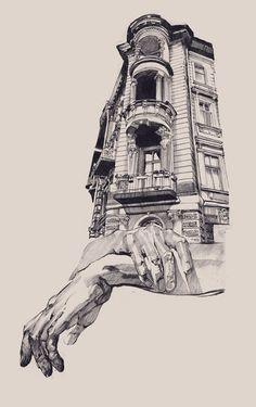 Impresionantes bocetos de arquitectura