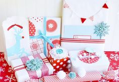 Christmas Wrapping Ideas � Red and Turquoise...