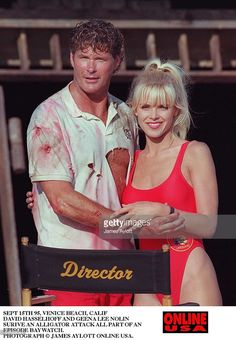 Sept 95 Venice Beach, Calif An Alligator Attacks The Beaches Patrolled By The Life Guards Of Baywatch. Set Pictures With David Hasselhoff And Geena Lee Nolin. Baywatch, Guinness, Sports Nautiques, Childhood Tv Shows, Old Shows, Vintage Soul, One Piece, Lizzie Mcguire, Life Goes On
