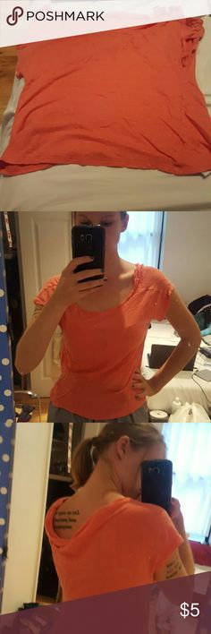 Forever 21 t-shirt Orange T from Forever 21, with a cute dip in the back Forever 21 Tops Tees - Short Sleeve