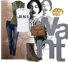 """Ready for combat"" by frederique-n ❤ liked on Polyvore"