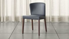 Curran Grey Dining Chair | Crate and Barrel