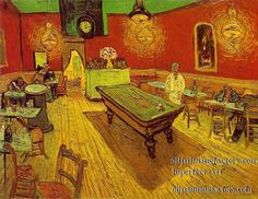 the Night Cafe in the Place Lamartine in Arles - Vincent van Gogh Painting, Oil on Canvas Arles: September, 1888 Yale University Art Gallery New Haven, Connecticut Vincent Van Gogh, Art Van, Van Gogh Arte, Canvas Frame, Canvas Art, Canvas Size, Blank Canvas, Van Gogh Pinturas, Painting Prints