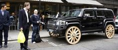 We've seen some big rims in our time, but lately the style is to go-big-or-go-home. We've put together this collection of 10 of the biggest rims we have seen Wtf Moments, Weird Pictures, Chevy Camaro, Hummer, Car Photos, Dream Cars, In This Moment, February, Wagon Wheels