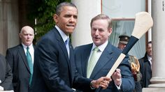 Barack Obama trying out his hurling skills I Think Of You, Field Hockey, White Space, Has Gone, Lacrosse, Guinness, Barack Obama, Happiness, Ads