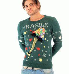 df588bbb933 A Christmas Story Fragile Leg Lamp Light Up (LED Lighting) Ugly Christmas  Sweater