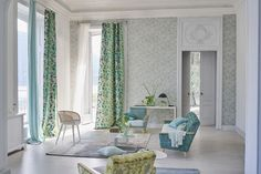 Designers Guild create inspirational home décor collections and interior furnishings including fabrics, wallpaper, upholstery, homeware & accessories. Designers Guild, Luxury Home Decor, Luxury Homes, Do It Yourself Design, Vert Turquoise, Luxury Wallpaper, Interior Concept, Interior Design Companies, Outdoor Furniture Sets