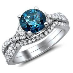 I do not care on the style of ring it is. But this is the color blue I want for my engagement ring. I'm not a fan of the plain white ones.