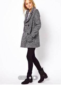 ASOS petite Grey Boyfriend Coat in Clothes, Shoes & Accessories, Women's Clothing, Coats & Jackets | eBay
