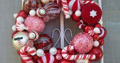 wreath-ideas Ornament Wreath, Ornaments, Wreaths, Wreath Ideas, Blog, Christmas, Home Decor, Xmas, Decoration Home