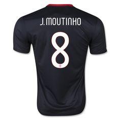 Portugal Jersey 2015/16 Away Soccer Shirt #8 J. MOUTINHO on Soccer777