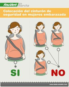 Infografía: Como colocarte el cinturón de seguridad si estás embarazada