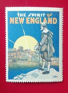 The Spirit of New England&Cinderella Poster Stamp Very Good Condition m.1917