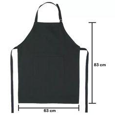 avental oxford frente c/bolso, buffet,uniforme,cozinha,hotel